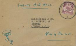 MALAYA NEGERI SEMBILAN 1949 10 C Air Mail Cover Reduced Military Postage Rate - Negri Sembilan
