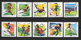 2016 - 158 - 1278 à 1287 - Euro De Football - Oblitéré - Luchtpost