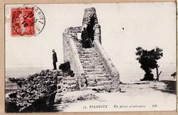 X64743 Edition P.P 33 - BIARRITZ Un PHARE Autrefois 13.08.1910 De DUBOUX à HOURCADE Espay Canton Pontacq - Biarritz