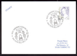 WQ8      XXVII Festa Dell'uva E Del Vino - Barbarano Vicentino, Wine Special Postmark Italy 2001 - Wines & Alcohols