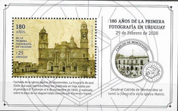 URUGUAY, 2020 ,MNH, PHOTOGRAPHY, 180 YEARS SINCE FIRST PHOTOGRAPH IN URUGUAY, CHURCHES, S/SHEET - Photographie