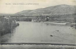 CPA 07 Ardèche VALLON Vallée De L'Ardèche Vue Du Pont De Salavas - Vallon Pont D'Arc