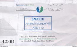 VAE Dubai 2011 Eintrittskarte Jumeirah Mosque Moschee - Eintrittskarten