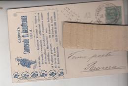 CASERTA  PUBBLICITARIA CARNEVALE DI BENEFICENZA 1914 - Caserta