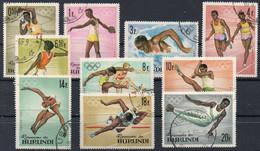 BURUNDI - 1964 - Jeux Olympiques De Tokyo - N° 102/111 (oblitérés / Used) - 1962-69: Gebraucht