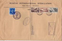 23382# SUISSE BUREAU INTERNATIONAL EDUCATION VIGNETTE INTELLECTUELLE PRISONNIERS GUERRE GENEVE 1941 - Storia Postale