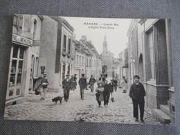 Mamers   Grande Rue  Et église Notre Dame - Mamers