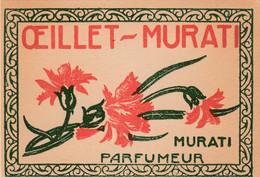Lot De 5 Cartes De Parfum, Parfumées. ( Oeillet-Murati. Gellé Frères. Cybelis. Arlay.) - Vintage (until 1960)