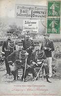 FRONTIERE  -  1912 - FRANCO- BELGE- LUXEMBOURGEOISE -  LONGWY- ATHUS- RODANGE -  GENDARMES GRADES - VOIR LE VERSO - Customs