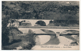 CPA - COLLET-DE-DEZE (Lozère) - Les 2 Ponts - Sonstige Gemeinden