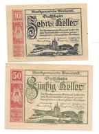 **Austria Notgeld  Mariazell 10+50 Heller   590/3a - Austria