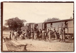 C.1900 Johannesburg -  Photo  Train Wagon Locomotive Station  South Africa - Ancianas (antes De 1900)