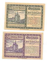 **Austria Notgeld  Mariazell 10+20 Heller   591a - Austria