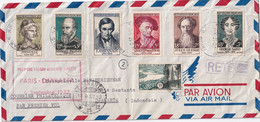 FRANCE 1957 PLI AERIEN DE PARIS AVEC RETOUR - 1921-1960: Periodo Moderno