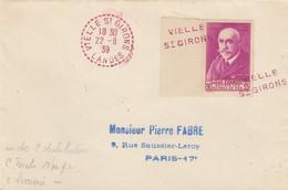 LETTRE. N° 377 BORD DE FEUILLE. JEAN CHARCOT. SEUL. VIELLE ST GIRONS POUR PARIS - 1921-1960: Periodo Moderno