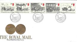 Grande Bretagne - Yvert 1135 à 1139 - Royal Mail- Malle Poste - Diligence - Enveloppe 1er Jour 31 07 1984 - - Covers & Documents