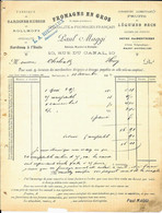 BRUXELLES   -    Paul Maggi  - Successeur Hiernaux  ( Fromages , Fabrique De Sardines , Conserves , Pâtes )  1902 - Lebensmittel