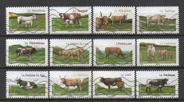 FRANCE 2014 Oblitéré - Les Vaches De Nos Régions - Gebraucht