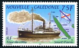 NOUV.-CALEDONIE 2005 - Yv. 945 **   Faciale= 0,63 EUR - Bateau à Vapeur Saint-Pierre. Tour Des Côtes  ..Réf.NCE26659 - Nuovi