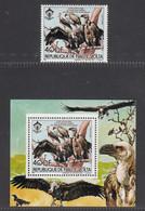 Upper Volta 1984,  Bird, Birds, Stork, Vulture, 1v + S/S, MNH** - Águilas & Aves De Presa