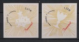France - 2014 - Adhésif N° Yv. 939 à 940 - Coeur Baccarat - Neuf Luxe ** / MNH / Postfrisch - Autoadesivi