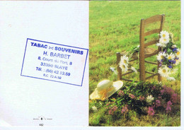 GIRONDE - BLAYE - Calendrier De Poche H. BARBET - Tabac - Souvenirs - 1983 - Small : 1981-90