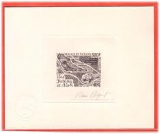 WALLIS ET FUTUNA PA N°80 EPREUVE D'ARTISTE GEOGRAPHIE,CARTE COULEUR EN NOIR - Unclassified