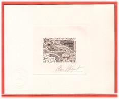 WALLIS ET FUTUNA PA N°80 EPREUVE D'ARTISTE GEOGRAPHIE,CARTE COULEUR EN SEPIA - Unclassified