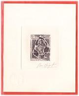 WALLIS ET FUTUNA PA N°81 EPREUVE D'ARTISTE GEOGRAPHIE,CARTE COULEUR EN NOIR - Unclassified