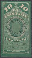 Etats-Unis - USA – Timbre Pour Journaux – Newspaper  10c  - 1865 Ob./used BOSTON - Newspaper & Periodical