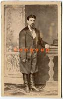 Photo Carte De Visite Jose Spinzi Man Portrait Juarez México - Old (before 1900)