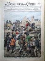 La Domenica Del Corriere 31 Gennaio 1915 WW1 Terremoto Marsica Porto Di Genova - War 1914-18