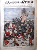 La Domenica Del Corriere 7 Febbraio 1915 WW1 Giordano Avezzano Bellagio Albania - War 1914-18