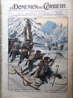 La Domenica Del Corriere 14 Febbraio 1915 WW1 Vosgi Sacile Russi Polonia Viterbo - War 1914-18
