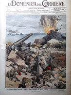 La Domenica Del Corriere 14 Marzo 1915 WW1 Dardanelli Cocullo Helgoland Messina - War 1914-18