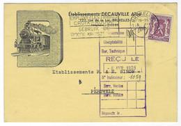 Z04 - Belgium - 1939 - Etablissements Decauville Bruxelles - Railways Locomotive - Otros