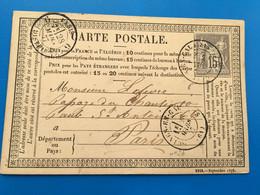 GUINES-EN-CALAISIE-Carte Postale Marcophilie(Lettre)Timbre Type Sage 15c Seul Sur Lettre1877-Période Semi Moderne-☛Paris - 1877-1920: Halbmoderne