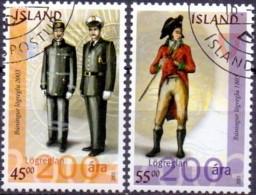 IJsland 2003 Uniformen GB-USED. - Gebraucht