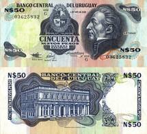 Uruguay / 50 Pesos / 1988 / P-61A(a) / XF - Uruguay