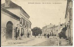 ROUILLAC ( Charente ) , Rue De Saint Jean , La Gendarmerie , 1916 , CPA ANIMEE - Rouillac