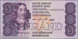 TWN - SOUTH AFRICA 119d - 5 Rand 1981-1989 Prefix AQ - Signature G. De Kock UNC - South Africa