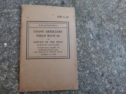 Livre TM Technical Manual US Coast Artillery Field Manual Canon De 8 Inch Mark VI Daté 1942 - 1939-45