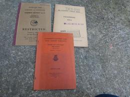 TM Lot De 3 Manuel Technique Americain US Radio Telephone TP 3 Interphone Equipment RC 73 - 1939-45