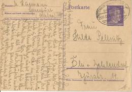 "2 187 Ganzsache Bahnpost ""WITTENBERG LUTHERSTADT-KOHLFURT"" 1943 - Cartas"
