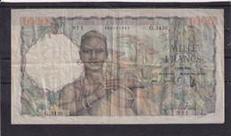 AOF  West African States  1000 Fr 21-11-1953  Rare - Estados De Africa Occidental