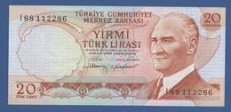 TURKEY - P.187b – 20 Türk Lirası  L. 1970 -   UNC - Prefix I88 - Turquia