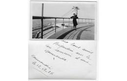 Pont Avant PAQUEBOT NORMANDIE - Passagere Decembre1937 - SS NORMANDIE - Boats