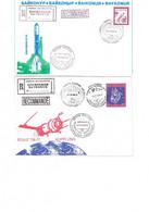 COSMODROME BAYKONUR : 2 Plis Recommandés. Progress M-34 Et Soyuz TM-27. - Rusia & URSS