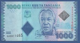 TANZANIA - P.41a – 1.000 SHILLINGS ND 2010 - UNC Prefix AA - Tanzania