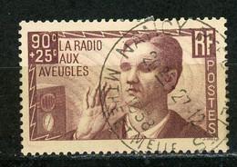 FRANCE -  LA RADIO AUX AVEUGLES - N° Yvert 418 Obli. - Used Stamps